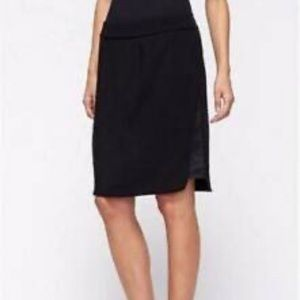 Eileen Fisher Black Pencil Skirt With Silk Panel